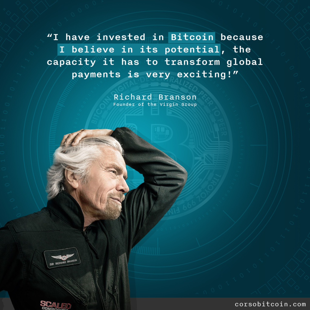 Richard Branson Virgin Bitcoin